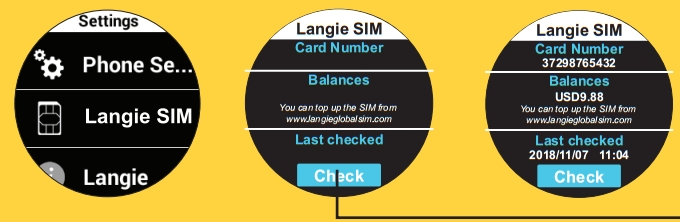 langie sim credit check